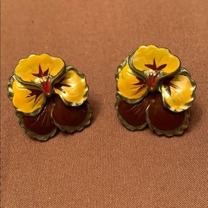 🔥New Inventory🔥 Vintage Pansy Earrings